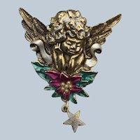 Olit Inc 1995 USA Angel Christmas Pin