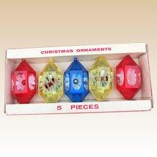 Jewelbrite Plastic Diarama Christmas Ornaments