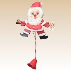 Yuletide Enterprises Merry Christmas Plastic Moving Santa Pin