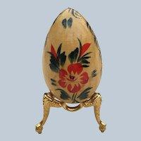 Wooden USSR Souvenir Folk Art Egg