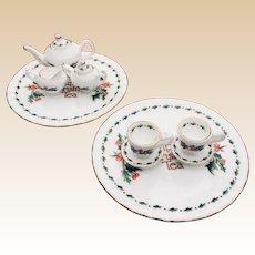 1995 A Cup Of Christmas Tea Porcelain Miniature Tea Set