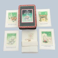1992 A Cup Of Christmas Unused Tea Christmas Greeting Card Set