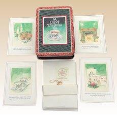 1992 A Cup Of Christmas Unused Tea Christmas Greeting Card Set
