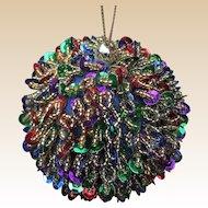 Beautiful Handmade Sequin Beaded Christmas Ornament