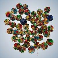 Vintage Foil Christmas Atomic Ball Onament Set Of 45