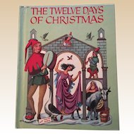 1956 The Twelve Days Of Christmas Children Wonder Books Excellent Condition