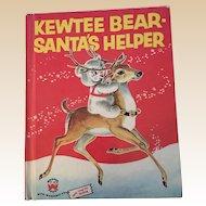 1956 Kewtee Bear Santa's Helper Children Wonders Book First Edition