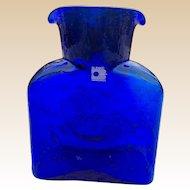 Blenko Cobalt Blue Water Pitcher Carafe With Original Label