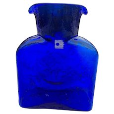Blenko Cobalt Blue Water Pitcher Carafe With Original Label