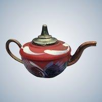 Miniature Rossvar Crafts Wales England Metal Doll Tea Pot
