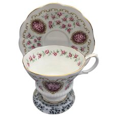 Royal Albert Bone China England Keepsake Cameo Series Cup and Saucer