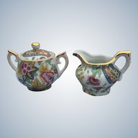 Lefton Paisley Fantasia Mini Sugar and Creamer Number 6813 Set