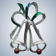 Gerry's Silver Christmas Bell Pin