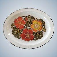 Mid Century Nasturtium Stonehenge Midwinter England Platter