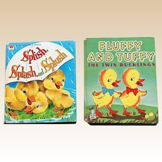 Whitman Tell A Tale Fluffy and Tuffy the Twin Ducklings and Splish, Splash, and Splush Childrens Book