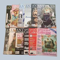 2003-2006 Antiques and Collecting Magazine Set Of Ten