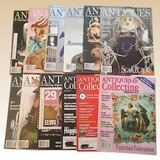 2003-2006 Antiques and Collecting Mazazine Set Of Ten