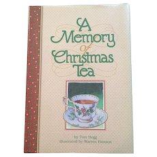 Tom Hegg A Memory Of Christmas Tea Hardcover 1999 First Edition