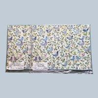 Vintage Caspari Denmark Bluebirds Paper Mat Set