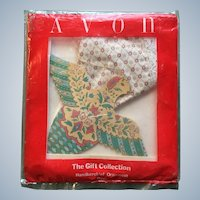 Avon Christmas Dove Handkerchief Ornament