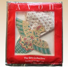 Avon Christmas Dove Hankerchief Ornament