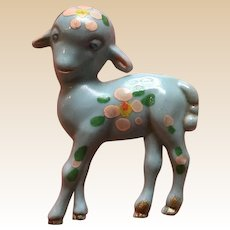 1940's Celluoid Figural Hand Painted Lamb Pin