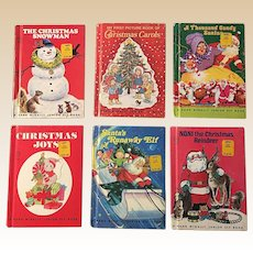 1970's Rand Mcnally Junior Elf Picture Christmas Collection