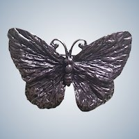 Napier Silver Tone Figural Butterfly Pin
