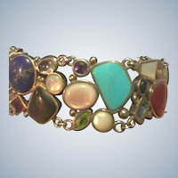 Beautiful Sterling Gemstone Bracelet