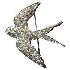 Avon Smithsonian Rhinestone Bird Pin