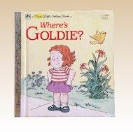 1983 Where's Goldie First Little Golden Book