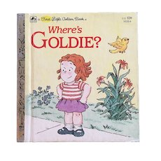 1983 Where's Goldie First Little Golden Book