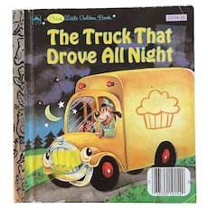 1986 The Truck That Drove All NIght First Little Golden Book