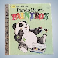 1981 First Edition Panda Bear's Paintbox First Little Golden Book