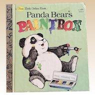 1981 First Edition Panda Bear's Paintbox First Little Golden Book