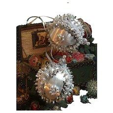 Retro Handmade 1960s-70's Beaded Christmas Ornaments