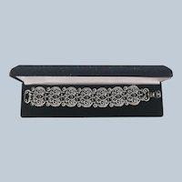 Beautiful Carolyn Pollack Filigree Scroll Sterling Bracelet
