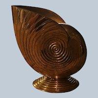 Solid Brass Nautilus Seashell Vase