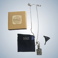 Madame Rochas France Perfume Flacon Necklace Set