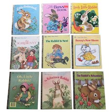 Little Golden Book Rabbit Set of Nine Books