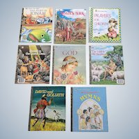 Little Golden Book Biblical Nine Book Set in Excellent Condition