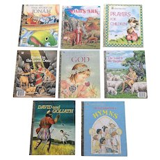 Little Golden Book Biblical Eight Book Set in Excellent Condition