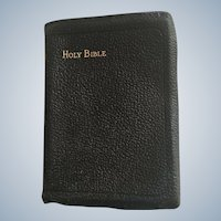 Early 1900's Cambridge French Morocco Leather Compact King James Holy Bible