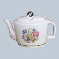 Harker Petit Point Rose Modern Age Design Art Deco Teapot