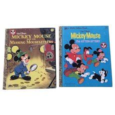 Mickey Mouse Club Mickey Mouse The Kitten Sitters and Mickey Mouse and the Missing Mouseketeers Little Golden Book Set