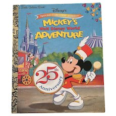 Disney's Special Collectible Edition Mickey's Walt Disney World Adventure Little Golden Book First Edition