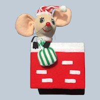 Dream Pets Christmas Mouse Sitting In A Chimney