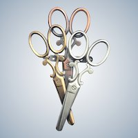 Vintage K & T Scissor Figural Pin