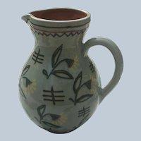 Vintage Anton Lang German Art Pottery Pitcher