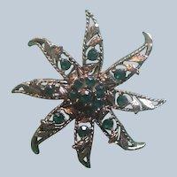 Vintage Gerry Green Rhinestone Star Pin